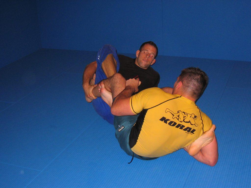 BJJ Leglocks mit Dean Lister im Sommer 2005